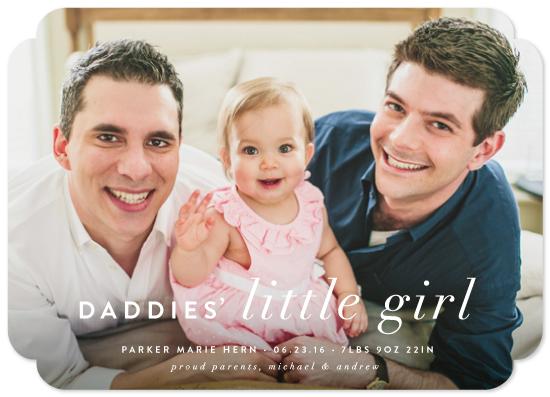 birth announcements - Daddies' Little Girl by Pistols