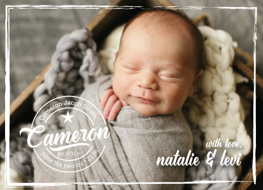 birth announcements - Cameron Logo by frolic