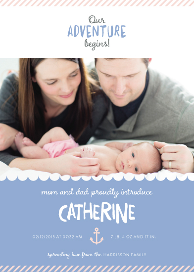 birth announcements - Our new adventure! by Bella