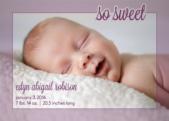 birth announcements - so sweet by Lauren Gerig
