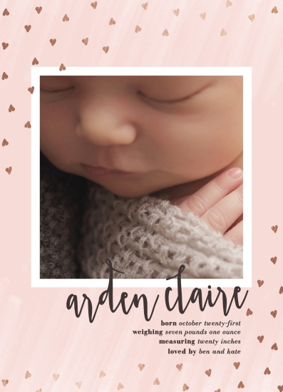 birth announcements - Hearts a flutter by Erin L. Wilson