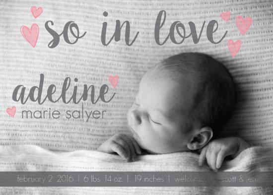 birth announcements - monochrome love by Lauren Gerig