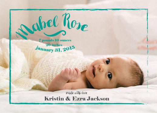 birth announcements - Mabel Rose by frolic