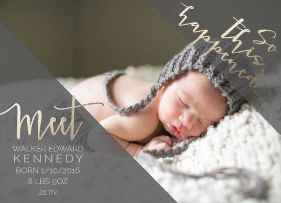 birth announcements - So This Happened... by Jamie Kennedy
