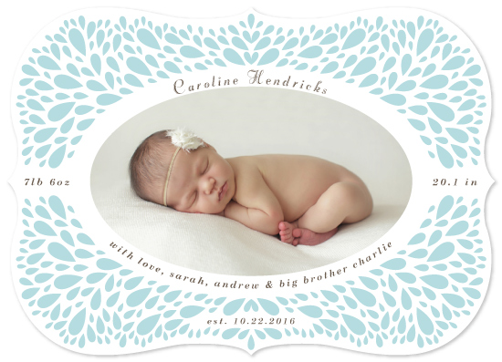 birth announcements - Framed Dewdrops Curved by Ling Wang
