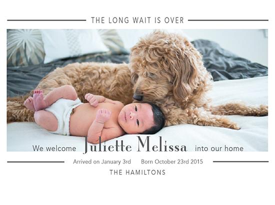 birth announcements - The long wait is over by Mareike von Engelbrechten