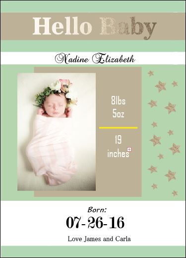 birth announcements - Hey Baby by Life is Art
