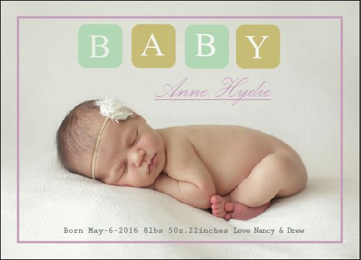 birth announcements - BabyLove by Life is Art