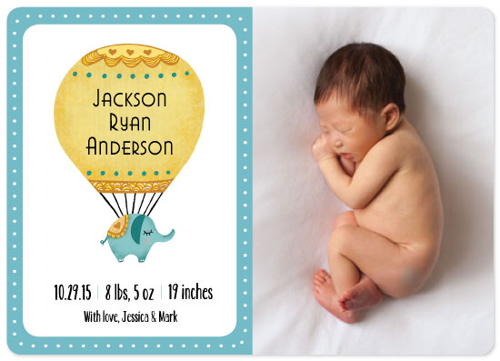 birth announcements - Balloon Arrival by Jeanine Murch