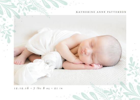 birth announcements - Baby Botanicals by Lehan Veenker