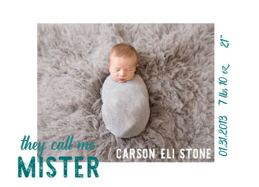 birth announcements - theycallmemister by frolic