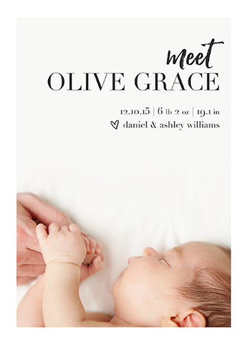birth announcements - Minimalistic by Jen Wagner