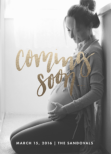 birth announcements - Coming soon... Minimal Pregnancy by Jen Wagner