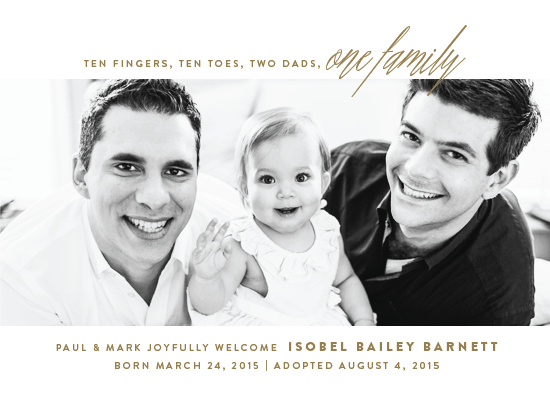birth announcements - One Family by Up Up Creative