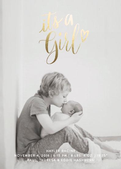 birth announcements - Golden Heart by Baumbirdy