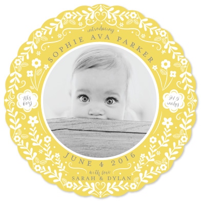 birth announcements - Baby Buds by Susan Moyal