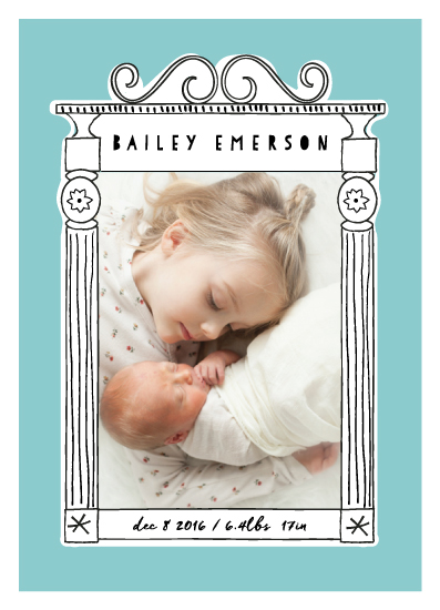 birth announcements - Frame Fun by Susan Brown