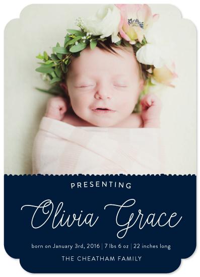 birth announcements - Sweet Elegance by Amanda Cheatham