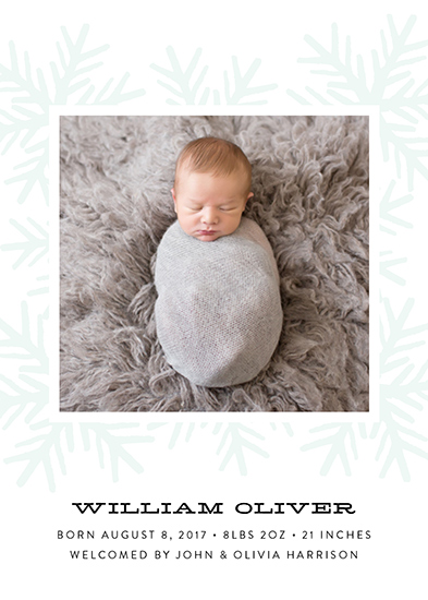 birth announcements - Snowflake by Genna Cowsert