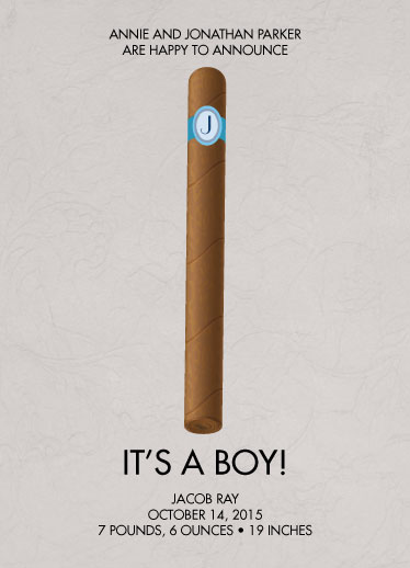 birth announcements - Celebration Cigar by Clever Doodle