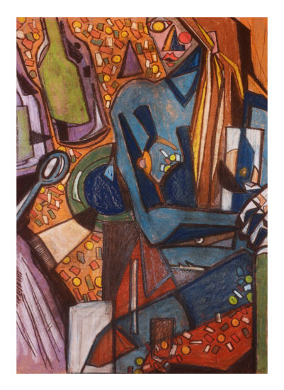 art prints - Cocktail with a Nude by Judy Stone