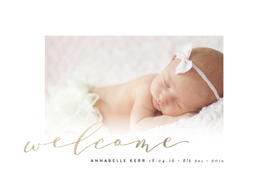 birth announcements - Scripted Welcome by Kelly Schmidt