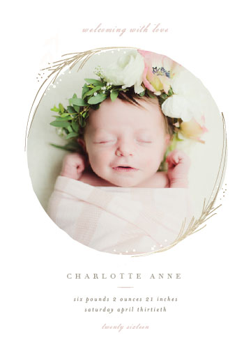 birth announcements - Shine by Lori Wemple