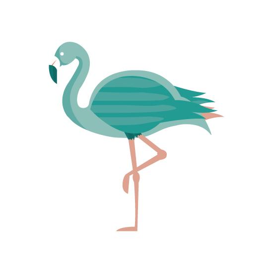 art prints - Modern Flamingo by Alex Cottles