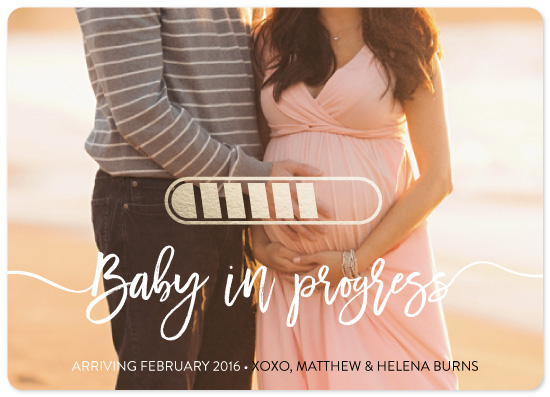 birth announcements - Baby in Progress by Salina Mack