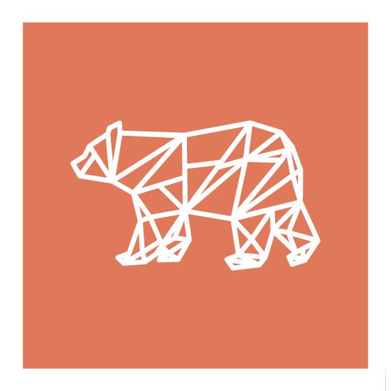 art prints - Geometric Bear by Alex Cottles