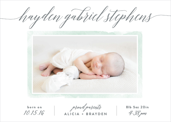 birth announcements - Modern Simplicity by Hooray Creative