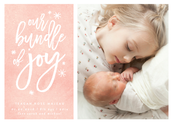 birth announcements - Our Bundle of Joy Has Arrived by Kelly Schmidt