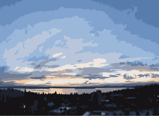 art prints - Sunset over Puget Sound by Jamie Kennedy