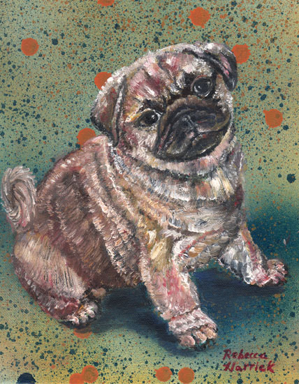 art prints - Pugapalooza by Rebecca Harrick
