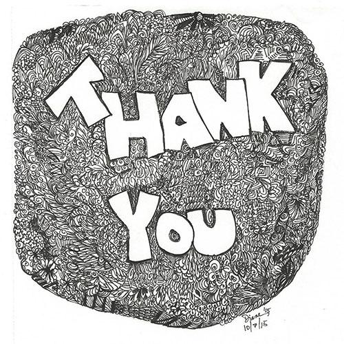 art prints - thank you by Diane Amil