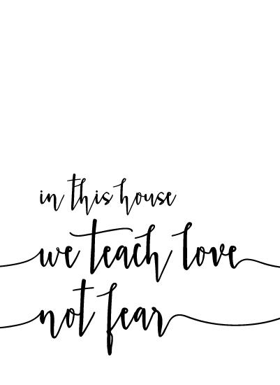 art prints - Love Not Fear by Jamie Kennedy