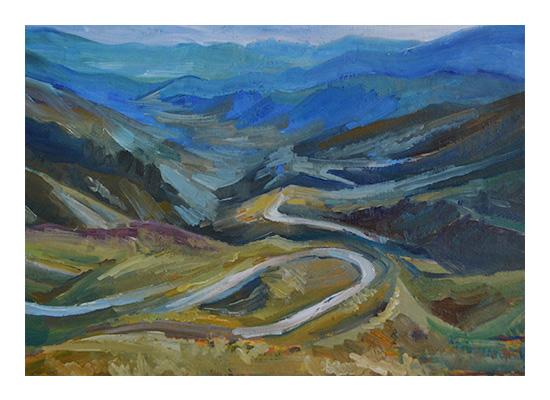 art prints - Mountain road by Nadiia Nemchenko