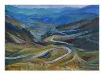 Mountain road by Nadiia Nemchenko