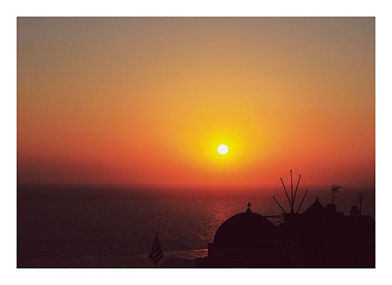 art prints - Santorini Sunset by Jenni Jacobus