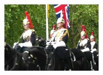 Horse Guards on the move