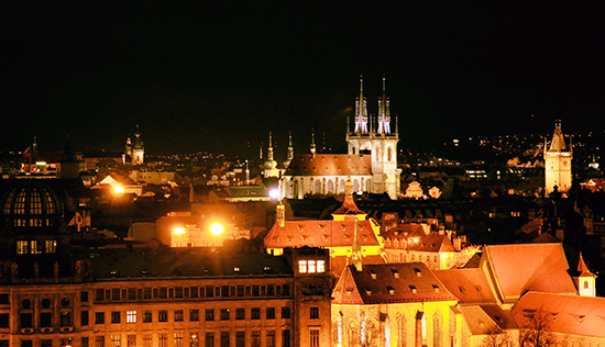 art prints - Prague in dark night by Sher Teng