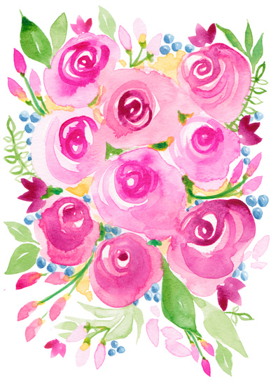 art prints - Spring Rosa by Michelle Mospens