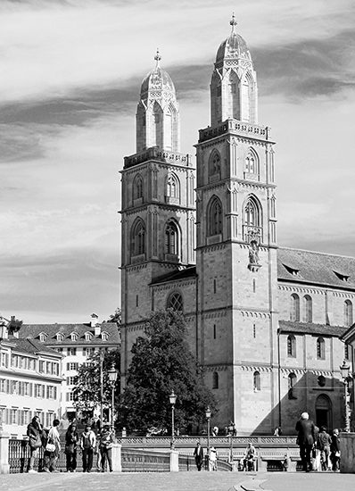 art prints - Grossmunster Church, Zurich by Sher Teng