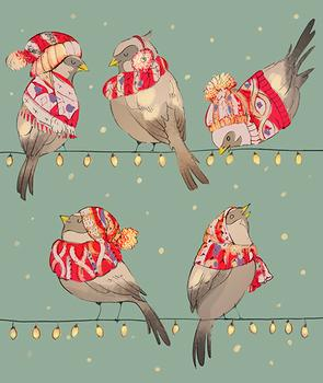 Cozy Sparrows