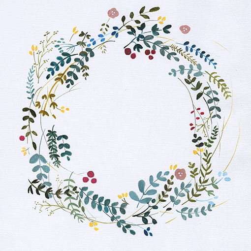 art prints - bohemian floral wreath by Adrianna Vanderstelt