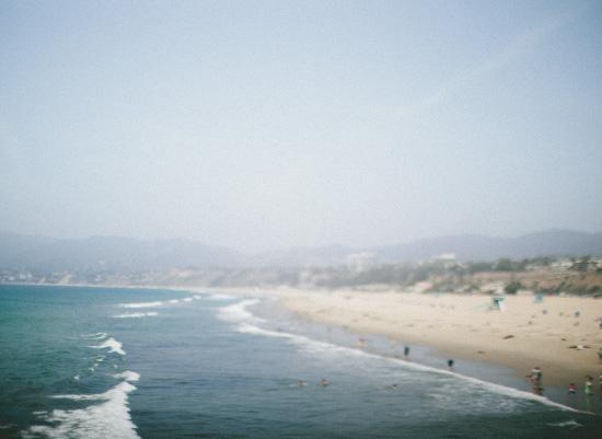 art prints - tiny people, big beach by morgan blake