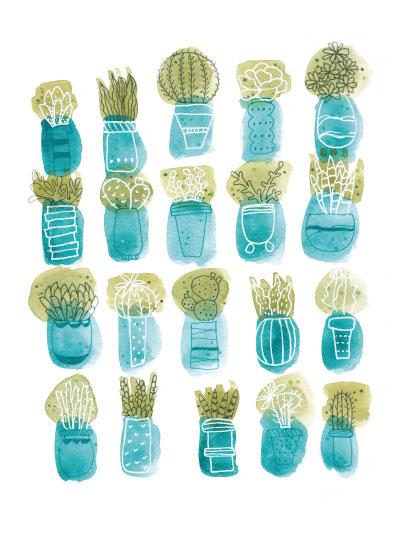 art prints - Cactus Garden by Sarah Ehlinger