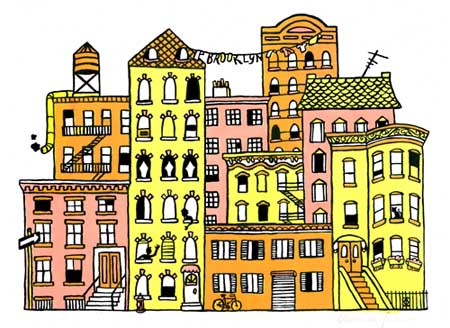art prints - The Neighborhood by Michelle Dowd