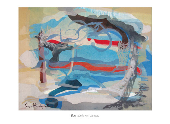 art prints - BLUE Landscape by Susu Pianchupattana