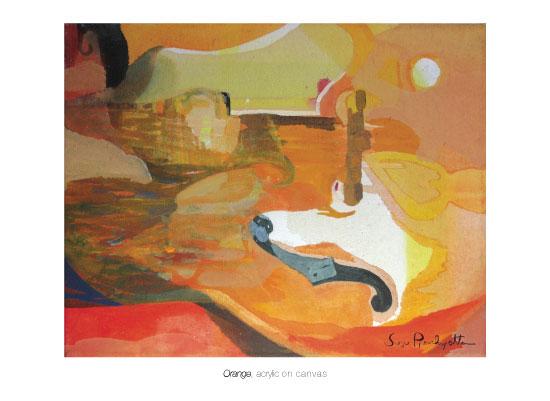 art prints - ORANGE Landscape by Susu Pianchupattana